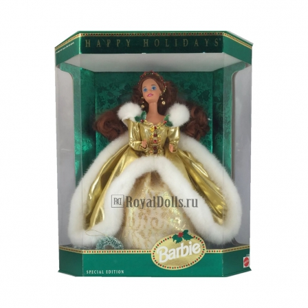 1994 Happy Holidays Barbie -Rare Festival Brunette