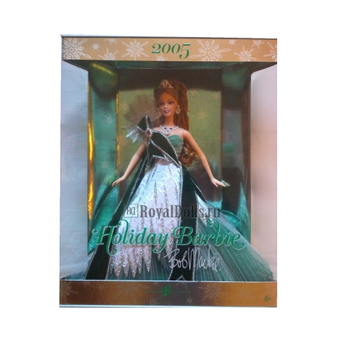 2005 Holiday Barbie - Exclusive Green Colored Dress
