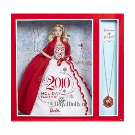 2010 Holiday Barbie with Exclusive Necklace