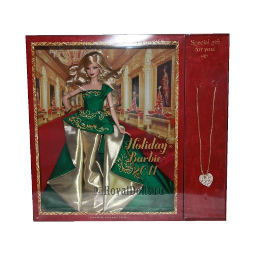 2011 Holiday Barbie - with Exclusive Necklace