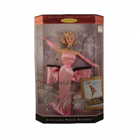 Куклы Barbie & Ko - Barbie Doll as Marilyn in the Pink Dress from Gentlemen Prefer Blondes
